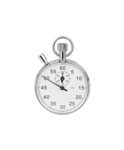 Mechanical Chrome Plated Stopwatch